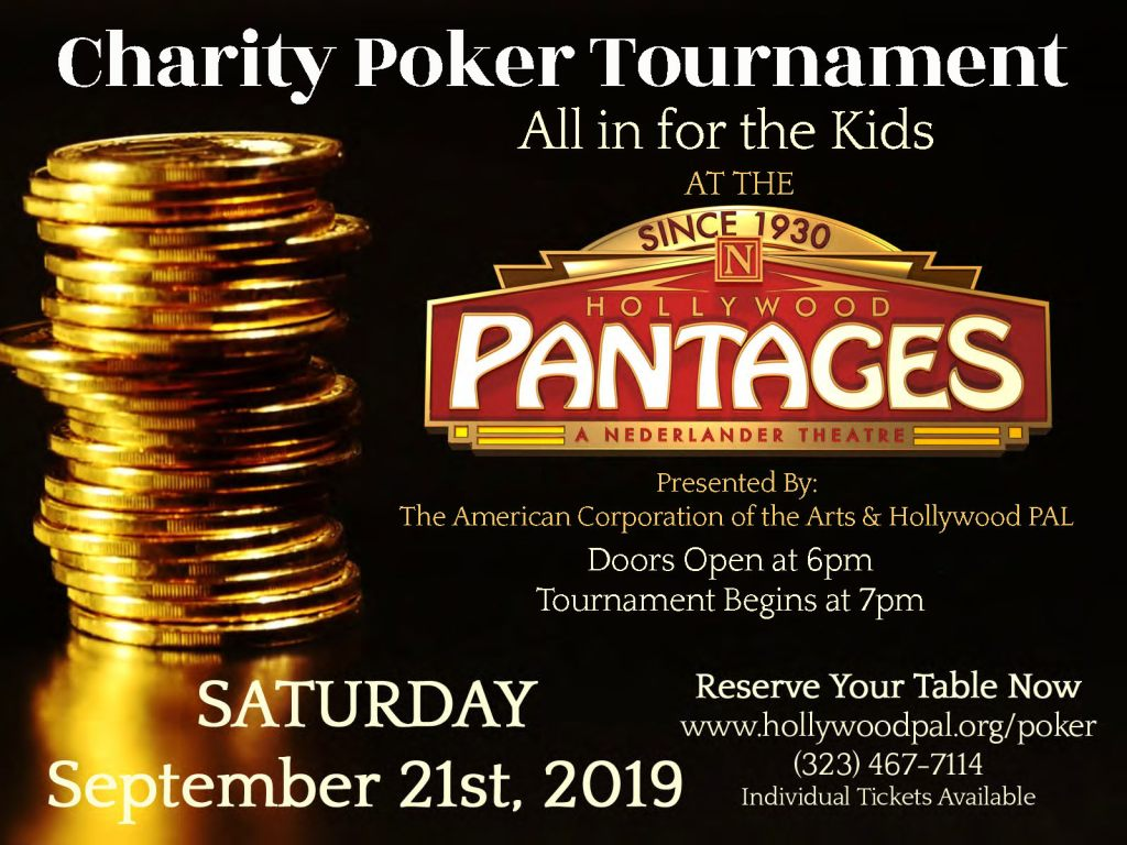Poker at the Pantages | All in for the Kids Charity Poker Tournament