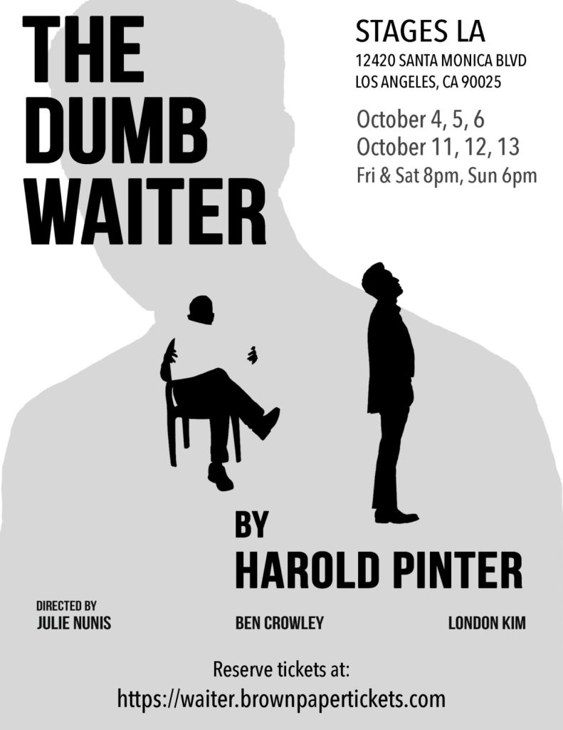 The Dumb Waiter, by Harold Pinter