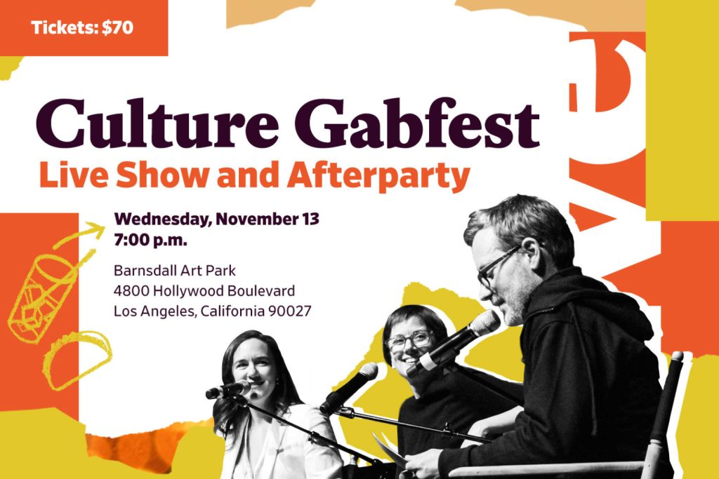 Slate's Culture Gabfest Live Show & Afterparty