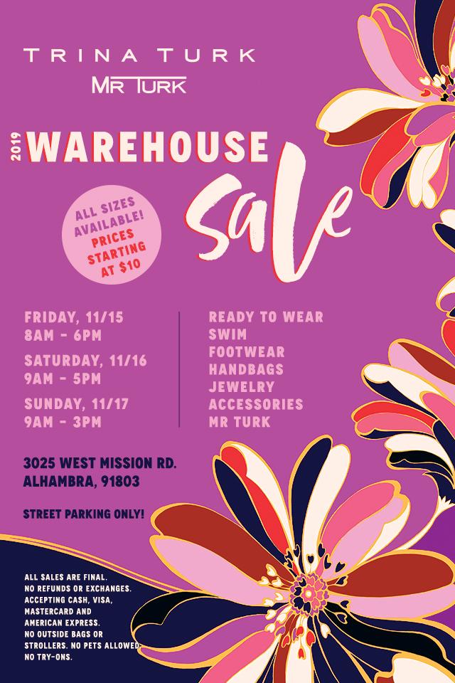 Trina Turk | Mr Turk Warehouse Sale!
