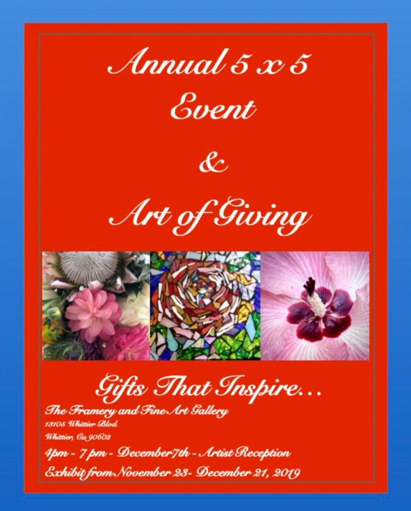5 x 5 and Art of Giving Event