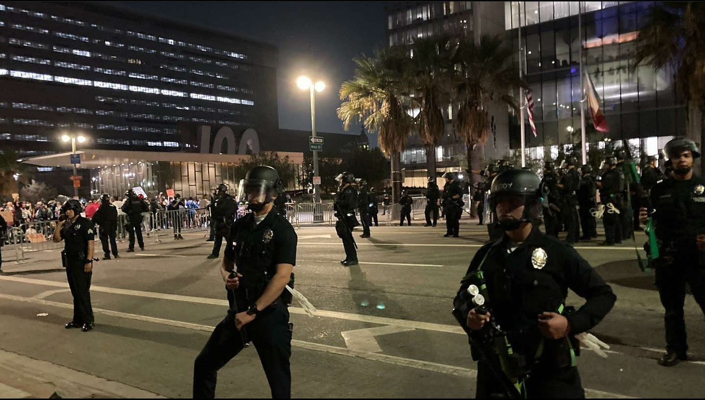 Los Angeles Protests Police After Pasadena And Wisconsin Shootings