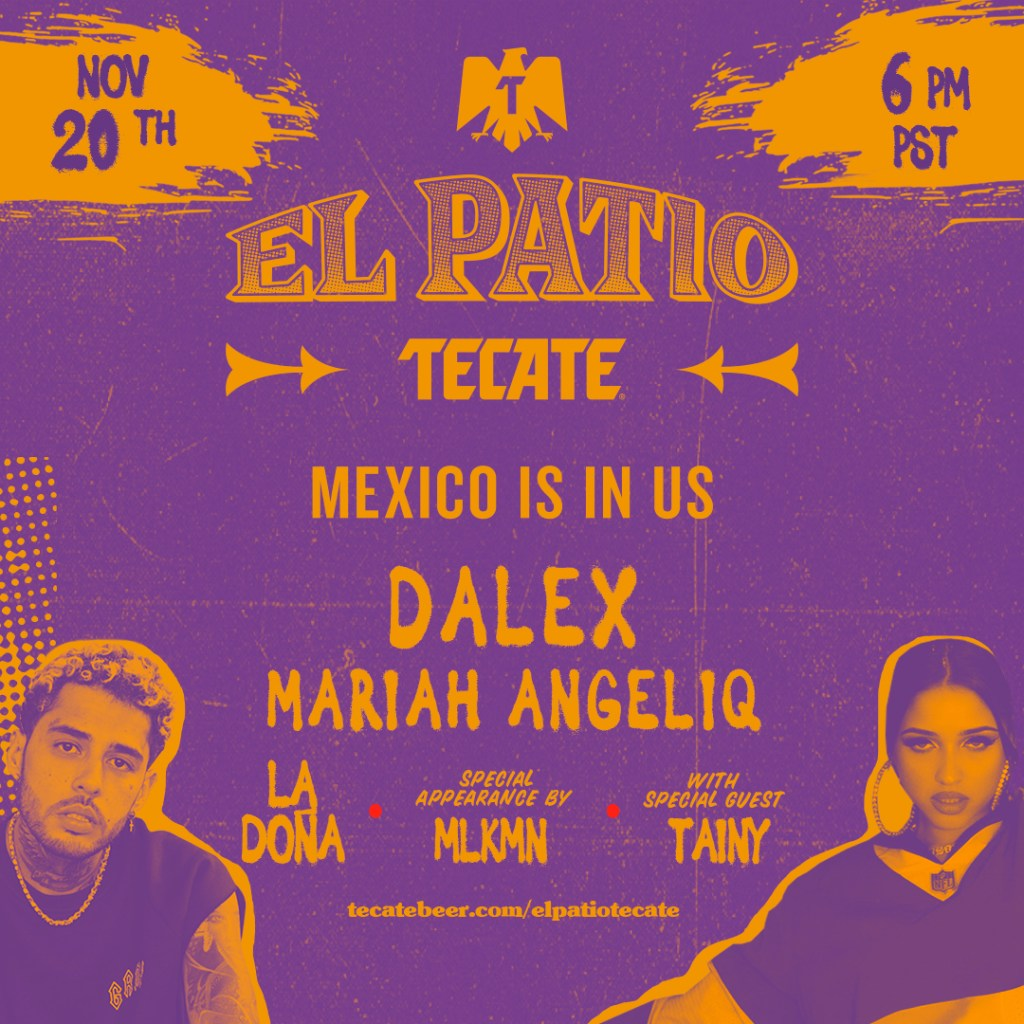 EL PATIO TECATE – Free Latin Music Livestream Feat. Dalex & Mariah Angeliq, Plus Special Guest Tainy