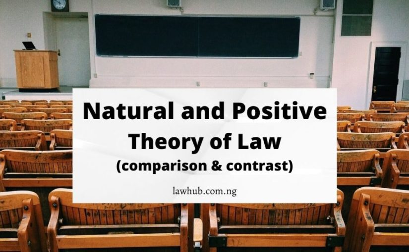 Natural and Positive theory of law (comparison and contrast)