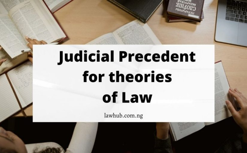 Judicial Precedents (Case laws) for Theories of Law