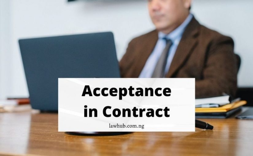 Acceptance in contract