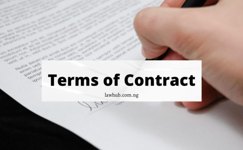 terms of contract