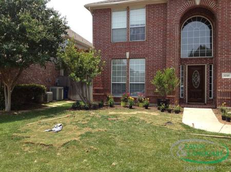 preparing lawn for redesign