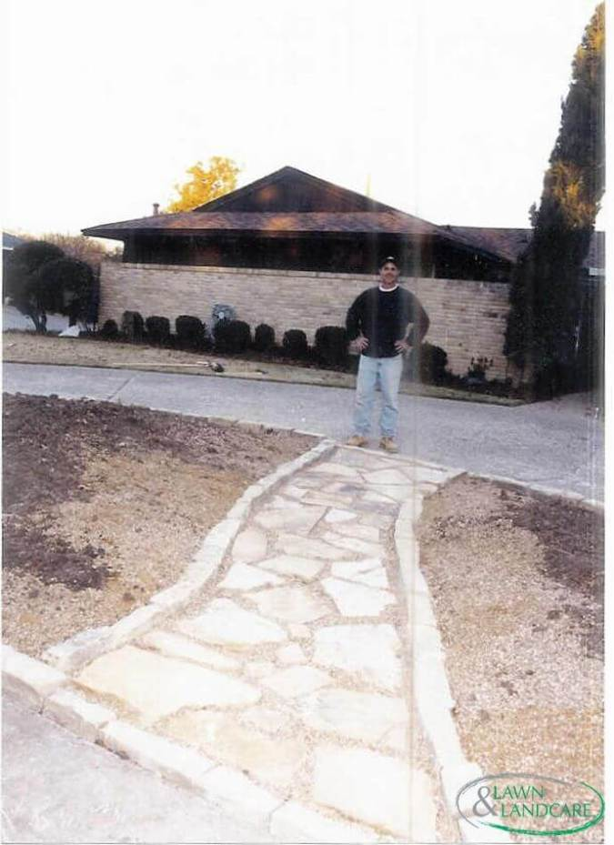 stone path to the house
