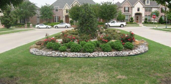 Landscape installation by McKinney Landscaping Company