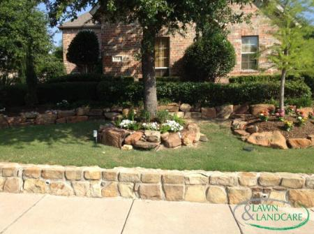masonry work in front garden