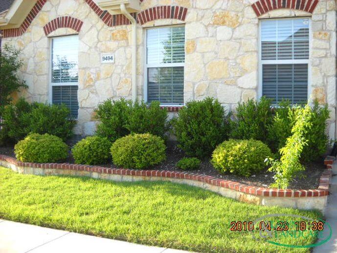 brick cap flower bed texas