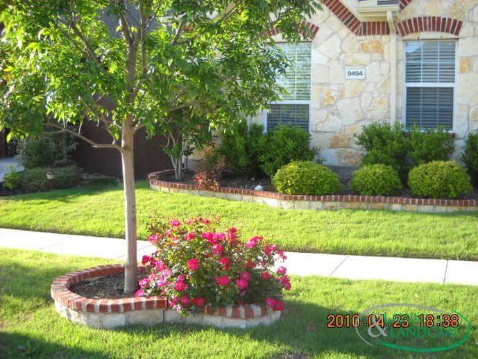 brick cap flower beds