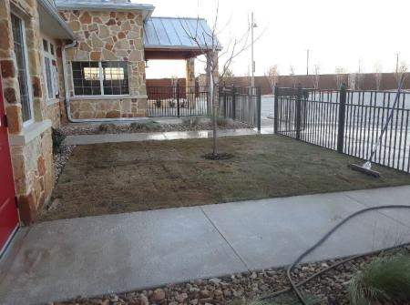 commercial landscaping install examples texas