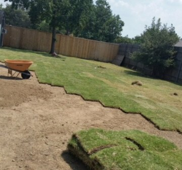 installing sod texas lawns