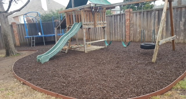 rubber mulch after