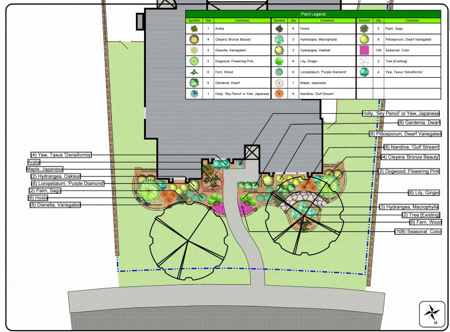 carrollton landscape design outline