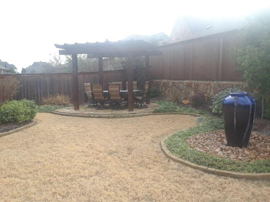 outdoor awning patio landscape design