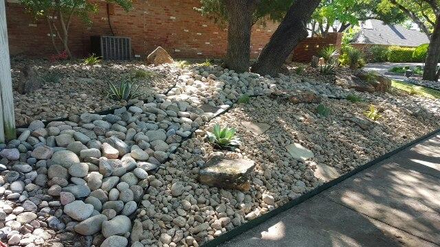 no-dirt rock garden designs