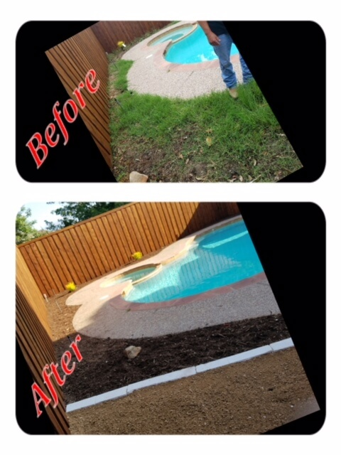 lawncare design before and afters dallas texas