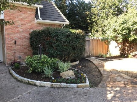 landscaping design example in plano texas
