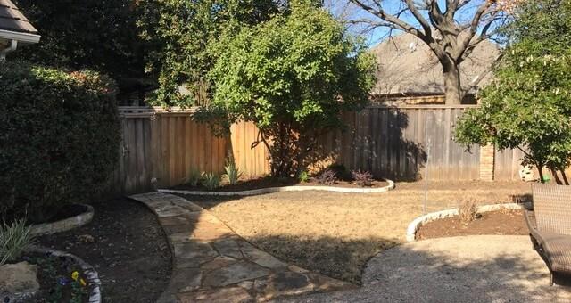 Plano texas landscape design