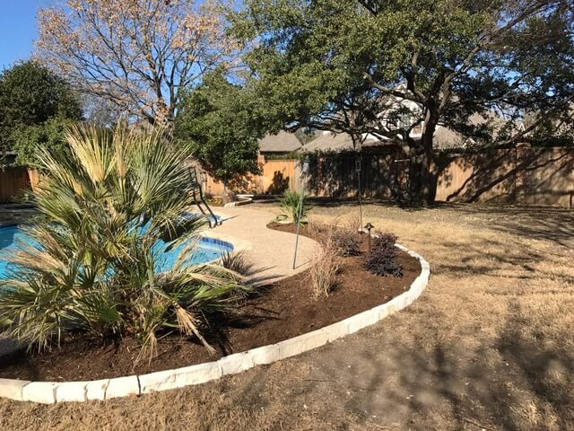 Plano Texas Pool and Raised Bed Garden