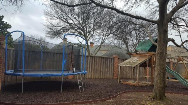 playground trampoline landscape design