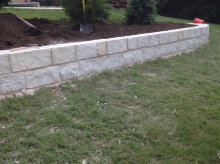 retaining wall example texas
