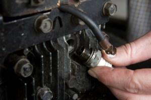 Installing a Lawn Mower Spark Plug