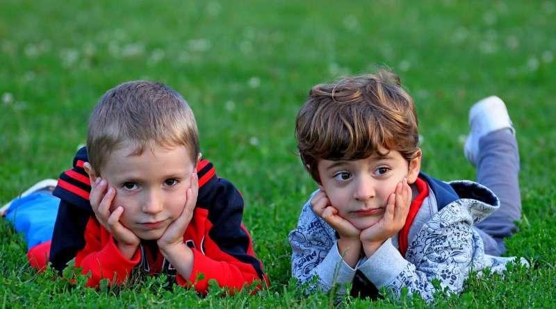 Kids in Grass