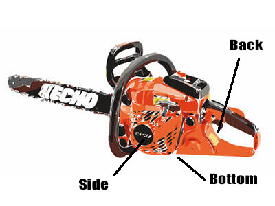 How to find chainsaw model number