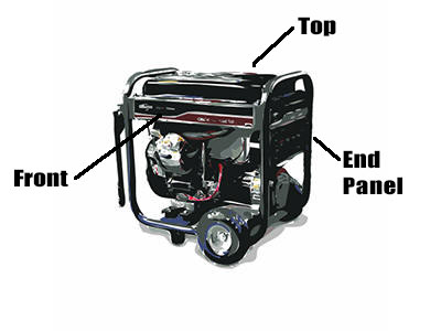 How to find generator model number
