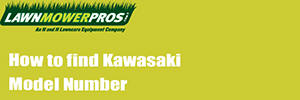 How to find Kawasaki model number