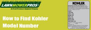 How to Find Kohler Model Number
