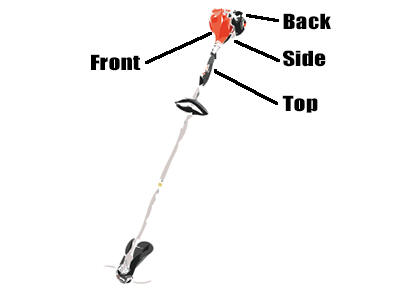 How to find string trimmer model number