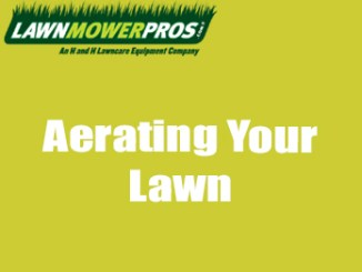 Aerating Your Lawn Banner