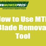 How to Use the MTD Blade Removal Tool