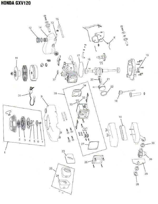 Honda Gxv120 Engine Parts Diagram