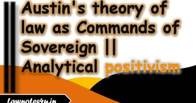 Austin's theory of law as Commands of Sovereign
