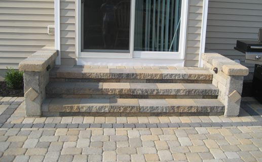 Steps Against House Help | LawnSite on Backyard Stairs Ideas id=44187