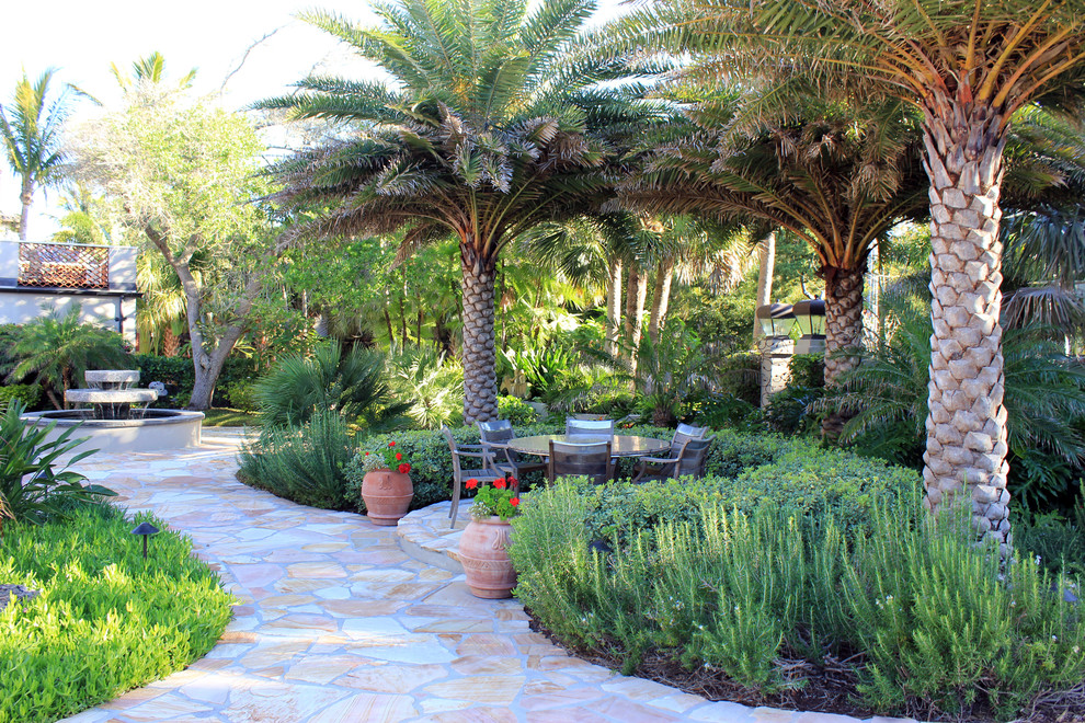 5 Unique Hardscape Designs in Tampa, Florida - Lawnstarter on Palm Tree Backyard Ideas id=93369