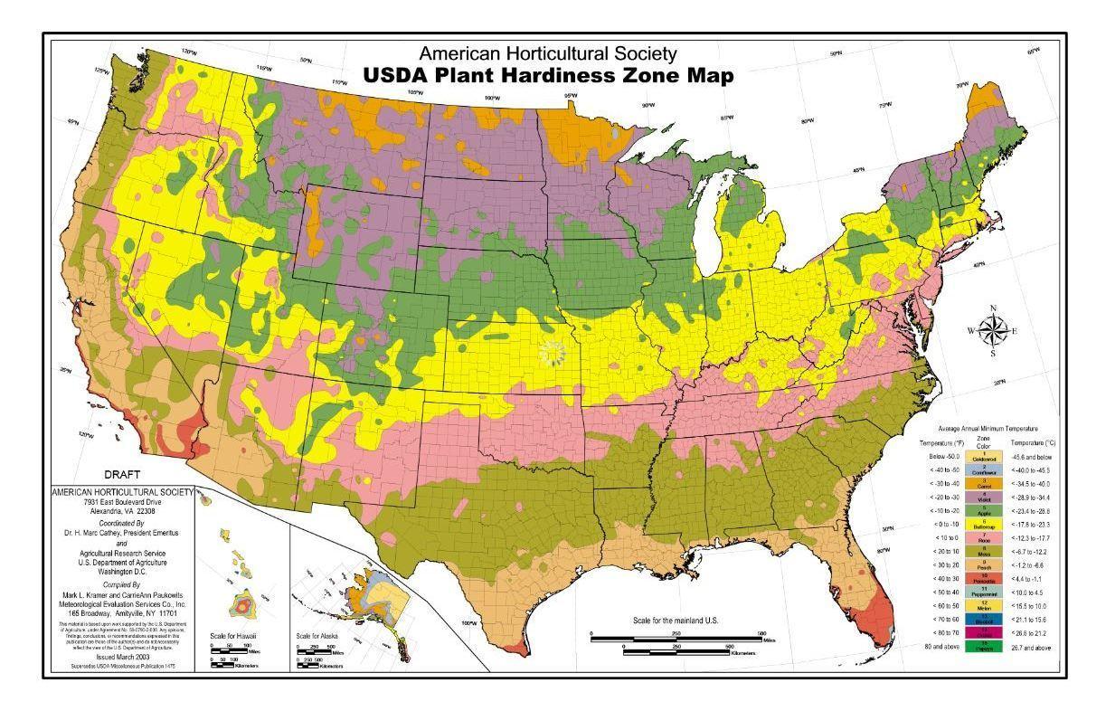 Understanding A Heat Zone Map For Gardening In Chicago