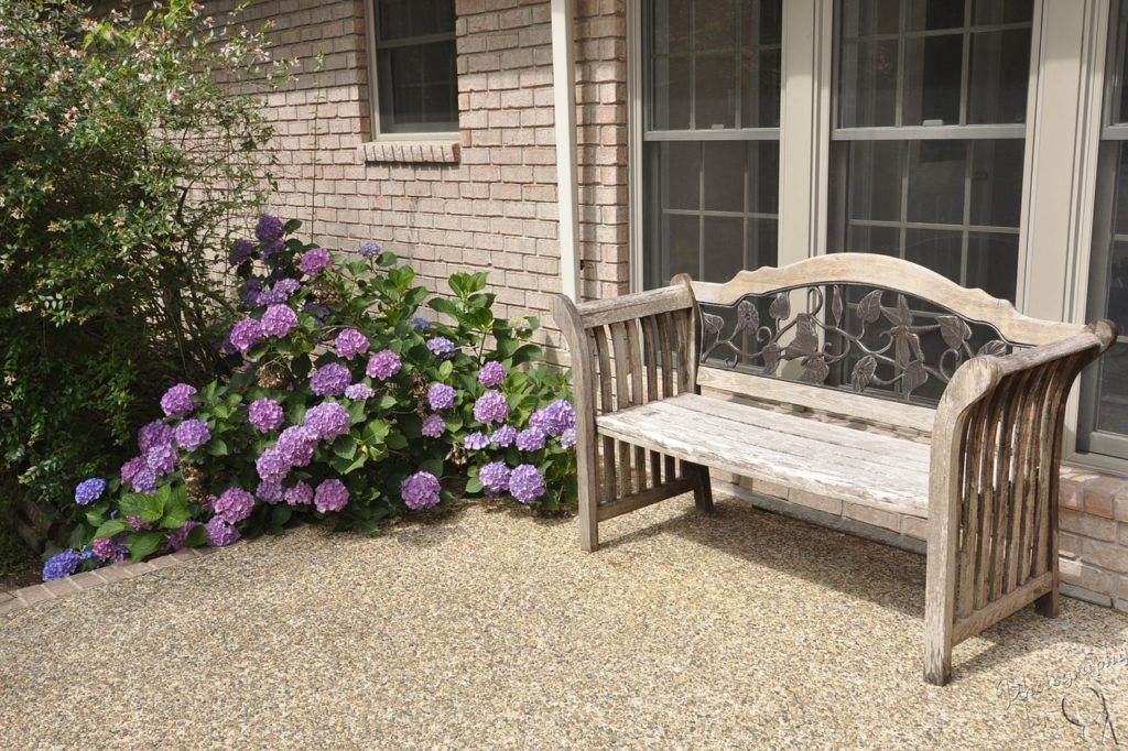 landscape with pea gravel in your yard