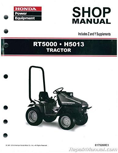 6175200e3 Honda H5013 Rt5000 Lawn Tractor Shop Manual