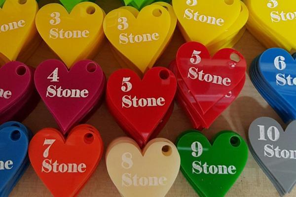 acrylics heart shape stone losses