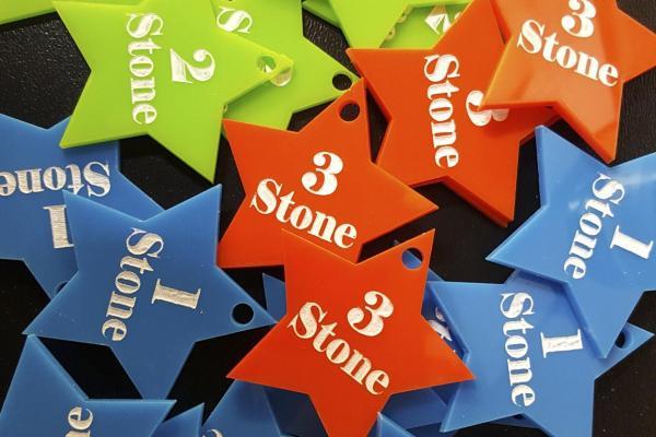 acrylics star shape stone losses