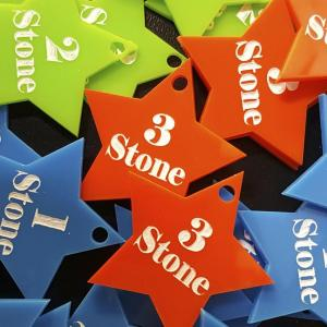 acrylics star shape stone losses