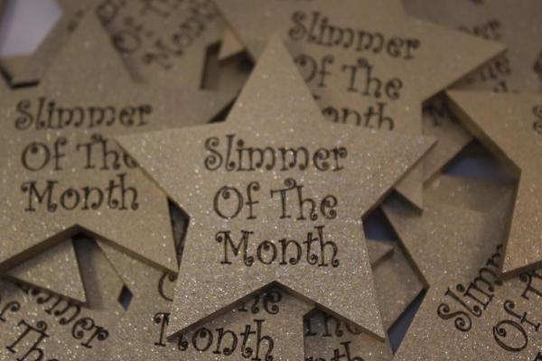 large star shape magnetic slimmer of the month
