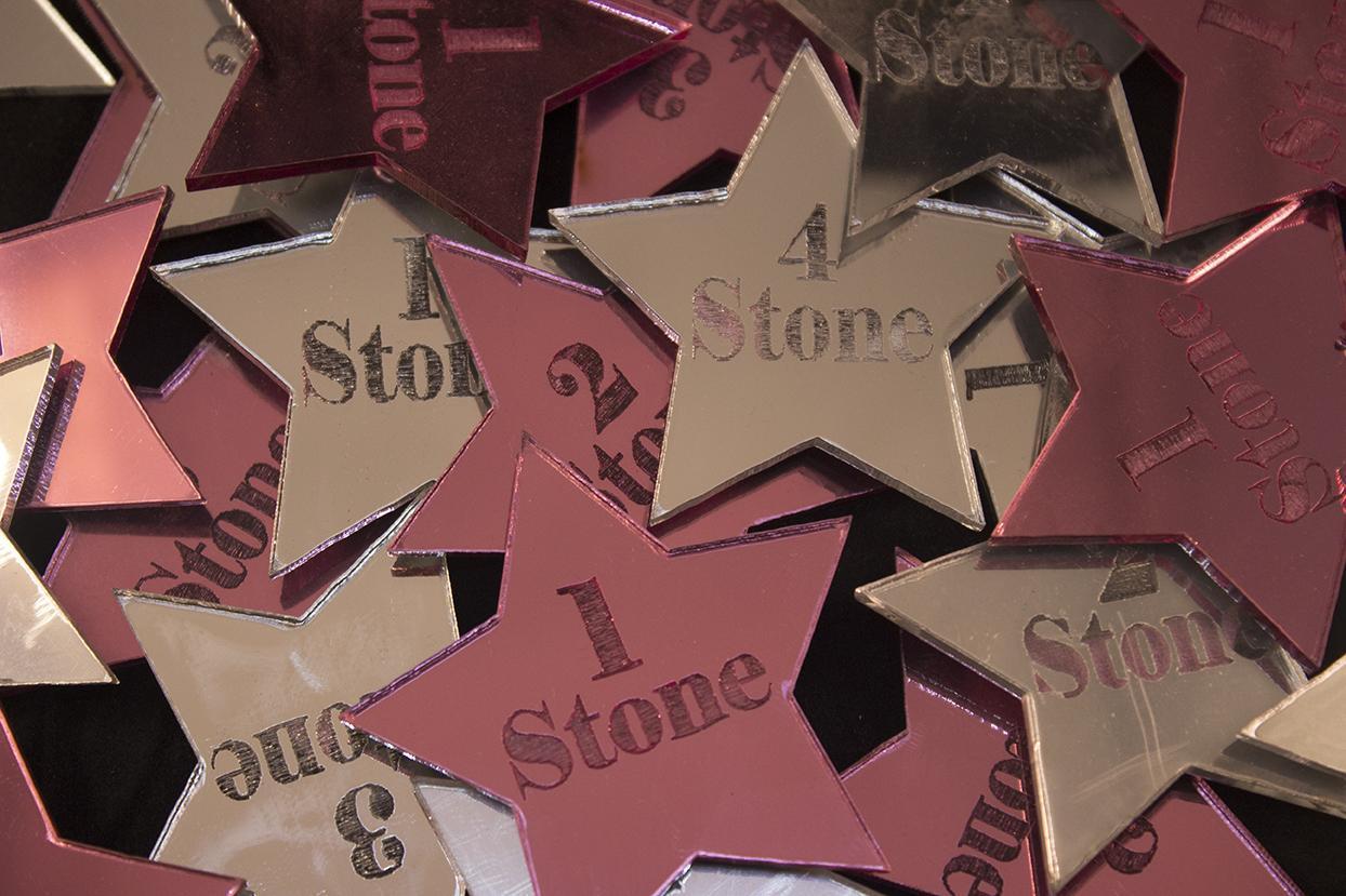 miror acrylics star shape stone losses